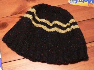 Black Striped Hat