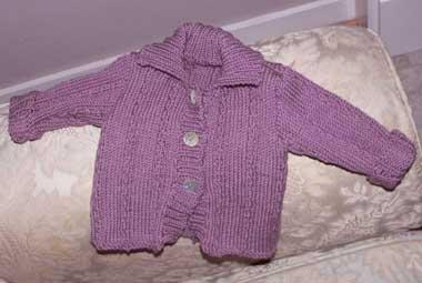 Purple BabyCardigan