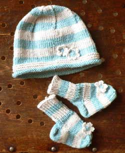 Striped Baby Hat & Socks