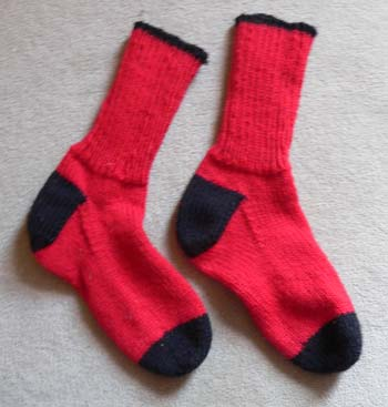 Red & Black Socks